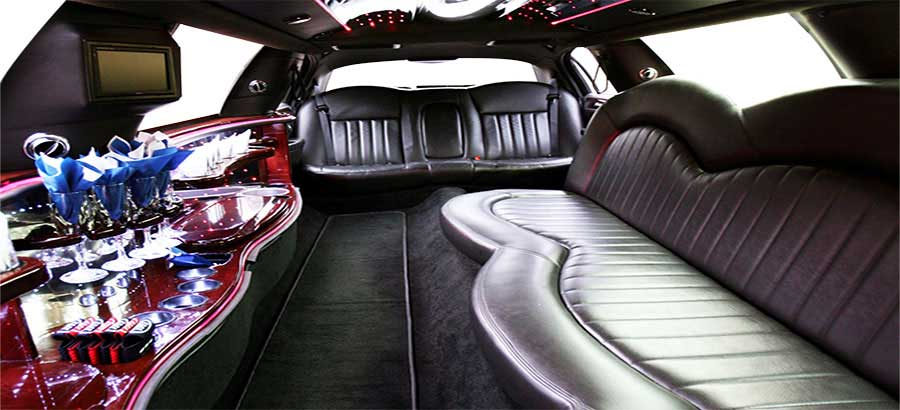 Interior of White Limo from A-1 Limo & Sedan Calgary